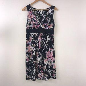 Soma Medium Floral Black White Ombre Dress